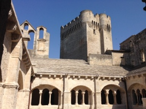 """Mid-11th century abbey outside Arles, Montmajour Abbey, is a gorgeous ruin beautifully maintained. It was the setting for the film """"The Lion in Winter."""" Spent a spell-binding hour wandering its ancient and cavernous halls."""