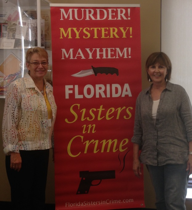 Spent the day with Florida Sisters in Crime member Nancy Quantrano at the Florida Heritage Book Festival in St-Augustine. Sold lots of books, met lots of people!
