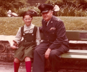 Me at age eleven with my very-quotable father. At the Frankfurt Zoo.