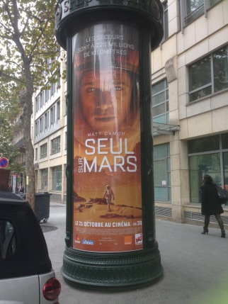 "Le Martian! Or as it's called in France: ""Alone on Mars."" Certainly nails it, nest-ce pas?"