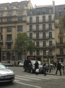 Classic Haussman apartment building. I'm thinking this is either where Grace is staying in 2015 or possibly where Delphine's family lived in 1940.