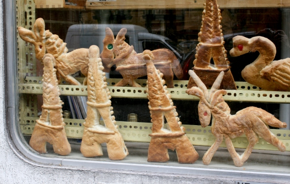 The boulangerie in our village always had odd cookies--at least odd to American children--but that made it all the more amazing to us.